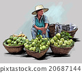 Fruit street vendor in Bangkok Thailand 20687144
