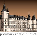 The castle of  Conciergerie 20687174