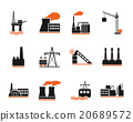 Factory and Industry Symbols 20689572
