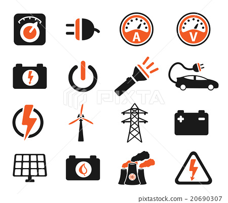 Electricity simply icons 20690307
