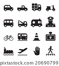 Traffic icon set 2 20690799