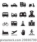 Traffic icon set 2 20690799