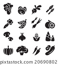 Vegetable icon set 2 20690802