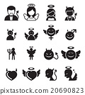 Devil & Angel icon set 20690823