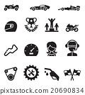 Car Racing icon set 20690834