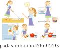 主婦 家庭主婦 女性 20692295