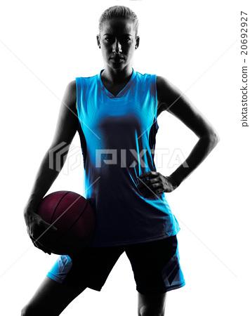 woman basketball player silhouette 20692927