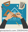 Process of designing the house. 20694046
