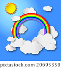 Color Rainbow With Clouds 20695359
