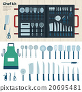 Modern Kitchen Tools for Cooking. Chef Kit 20695481