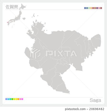 Map of Saga Prefecture 20696482