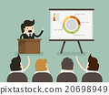Businessman giving a presentation 20698949