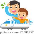 父母乘坐新幹線 20701557