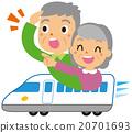 乘坐新幹線的一對老夫婦 20701693