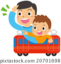 火車 電氣列車 親子 20701698