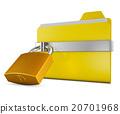 folder and  lock 20701968