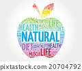 Colorful Natural apple word cloud 20704792