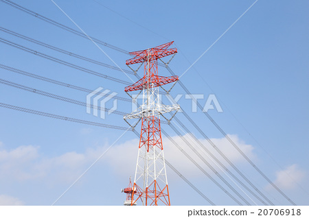 High voltage cable and steel tower 20706918