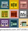 Different shops and stores icons set 20710361