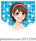 Woman Relaxing Bath 20711259