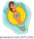 Woman Water Floating 20711262