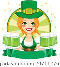 Leprechaun Girl Waitress Banner 20711276