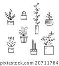 Line house plants icon set 20711764
