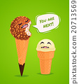 Funny ice creams poster, vector illustration. 20713569