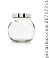 Clear glass bottle isolated on white background 20717251