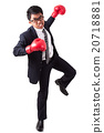 Businessman with red boxing gloves 20718881