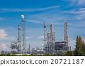 Landscape view of oil refinery plant 20721187