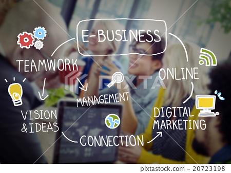 E-Business Ideas Analysis Communication Solution Social Concept 20723198