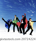 Businessmen Superheros Inspiration Leadership Success Concept 20724224