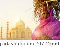 Woman Taj Mahal Seven Wonder Famous Place Concept 20724660