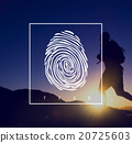 Fingerprint Identification Individuality Investigation Concept 20725603