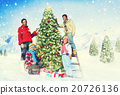 Family Celebrating Christmas Decoration Tree Concept 20726136