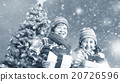 Christmas Children Gifts Happiness Celebration Snow Concept 20726596