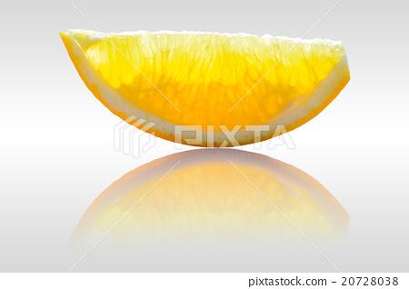 Sliced orange on white background 20728038