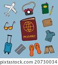 travel doodle sketch hand drawn set 20730034