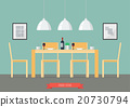 Flat Design Interior Dining Room 20730794