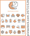 Seafood Icons set 20731526
