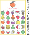 Fruit icons color set 20731529