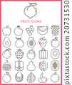 Fruit icons set 20731530