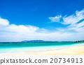 해변, 바다, 풍경. 오키나와, 일본. 20734913