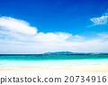 해변, 바다, 풍경. 오키나와, 일본. 20734916
