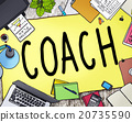Coach Coaching Guide Instructor Leader Manager Tutor Concept 20735590