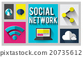 Social Network Global Communications Networking Concept 20735612