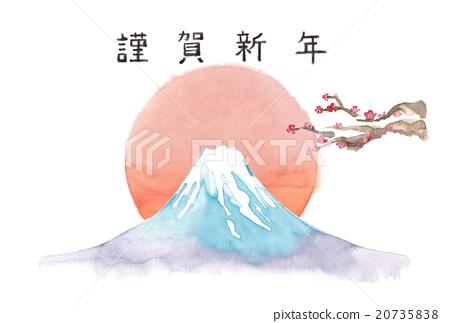 富士山 新年賀卡 賀年片 20735838