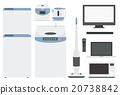 household, appliance, tv 20738842