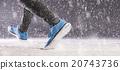 Woman running in winter 20743736